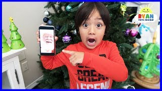 Ryan Facetime Santa Claus and he surprise Ryan with Christmas Presents!