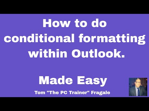 How to do conditional formatting in Outlook