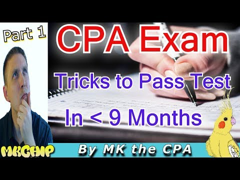 How to Pass The 2017 CPA Exam Quickly While Working  (How to  Study For CPA Exam) (Part 1 of 3)