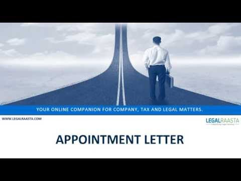 Appointment Letter | format | template | Legalraasta