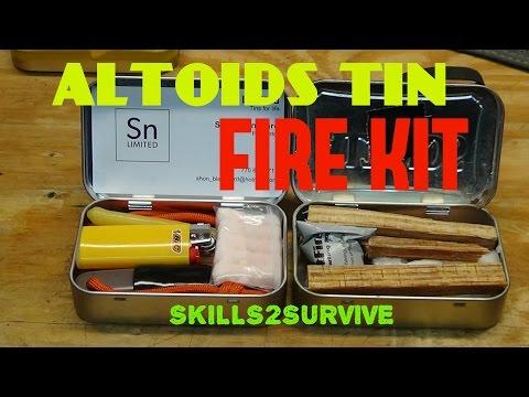 Altoids Tin FIRE KIT