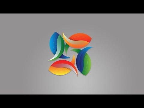 logo design   Illustrator Tutorial   colourful logo