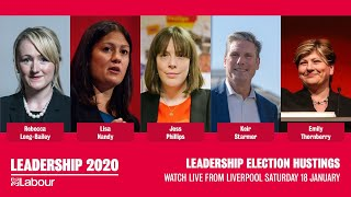 Labour Leadership Hustings Live from Liverpool