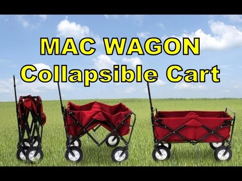 Mac Sports Collapsible Folding Outdoor Utility Wagon (With Side Table)