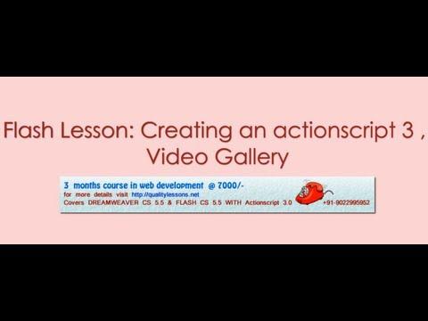 Flash tutorial: Video Gallery the actionscript 3.0 way