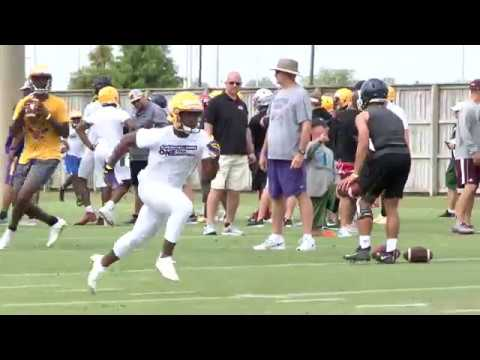 4-star WR Jacobi Bellazin with a couple of nice grabs at LSU skills camp
