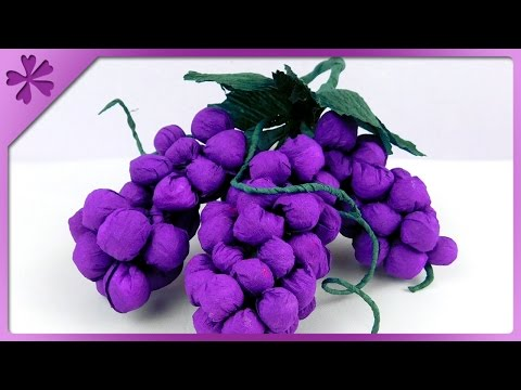 DIY Tissue paper grapes (ENG Subtitles) - Speed up #202
