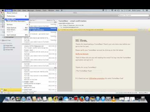 working offline on MS outlook client - MAC