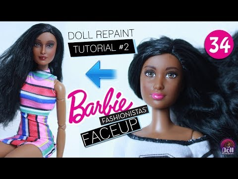 Doll Repaint Tutorial #2 Basic to Goddess Makeover Barbie Fashionista!