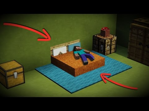 How to make a NEW Minecraft Bed Design! [Sleep, Lay down, DECORATE!]