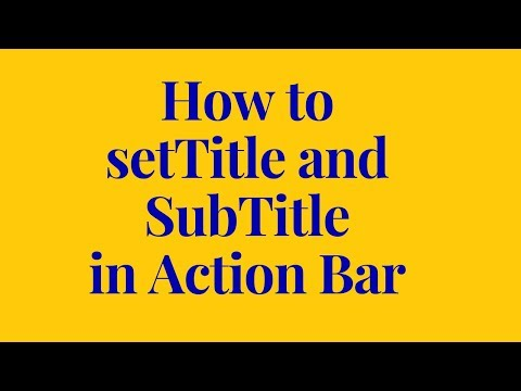 how to set title in different activity in android studio