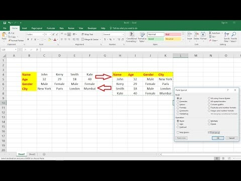 MS Excel: How to Convert Text Data Vertical to Horizontal to Vertical (Easy)