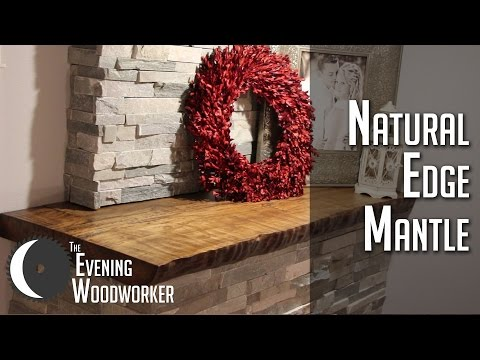 Natural Edge Fireplace Mantle