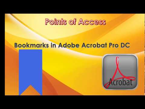 Basic PDF Accessibility Lesson on Bookmarks