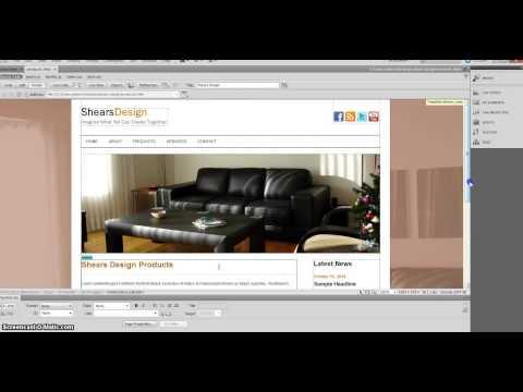 21 Dreamweaver Image as Background