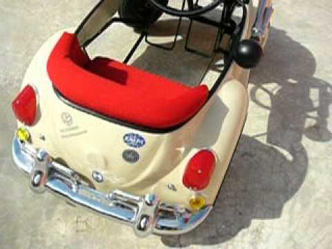Beige VW Bug Pedal Car