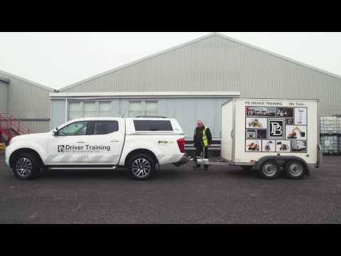 Car and Trailer - DVSA Test - B+E Couple and Uncouple Demonstration