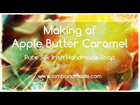 Making of Apple Butter Caramel Pure Silk Soap www.iamhandmade.com
