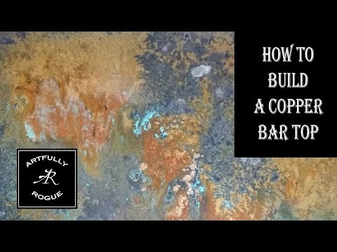 How to build a cool copper bar top