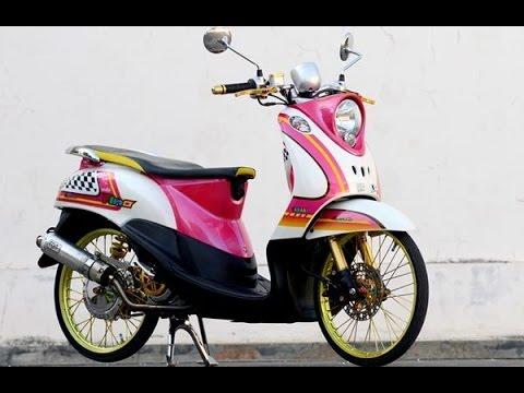 Custom Decal Vinyl Striping Motor Full Body Motor Honda Scoopy Fi