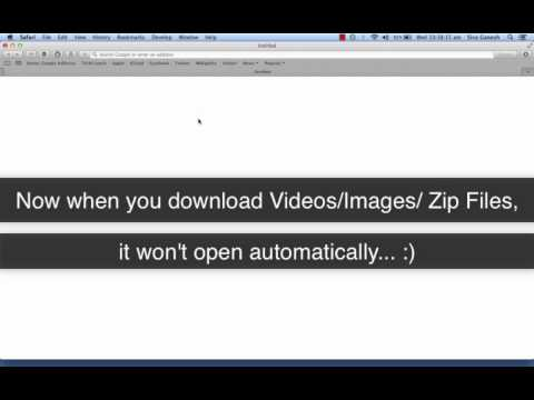 [Mac OS X Guide] Disable Auto open of Videos, Images, PDF, ZIP files in Safari