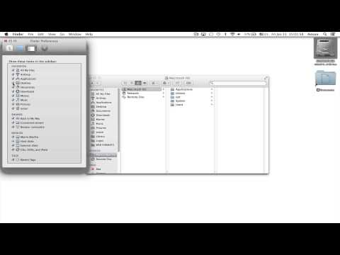 Display Missing Finder Sidebar / Icons - Mac OS X Mavericks