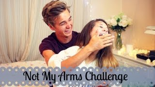 Not My Arms Challenge With My Brother   Zoella