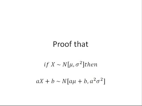 Distribution of Linear Transformation of Normal Random Variable Proof