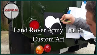 Land Rover Army Trailer Custom Art Commission