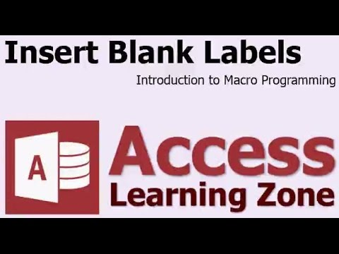 Microsoft Access Insert Blank Mailing Labels Using Macros