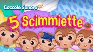 Cinque scimmiette - Canzoni per bambini di Coccole Sonore