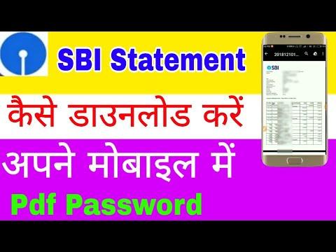 How to download sbi statement | sbi statement download in mobile | pdf password | sbi mini statement