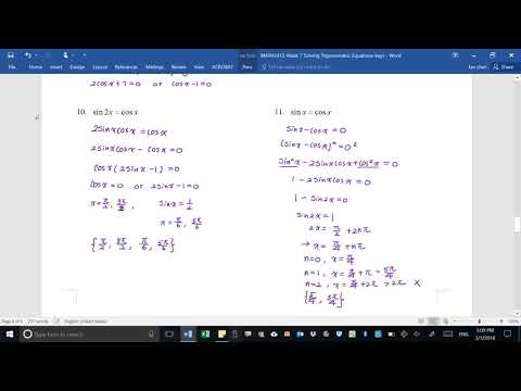 MATH2412-Solving Trigonometric Equation Part 2