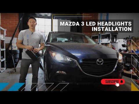 Mazda 3 LED Headlights How To Install - 2014+