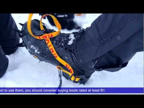 Winter Essentials. How to fit and walk in crampons