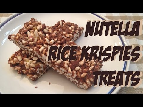 How to make marshmallows and nutella rice krispies treats #fastmicrowave