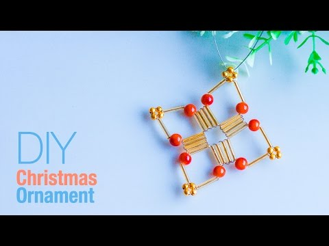 How to make christmas ornament | DIY Holiday Ornaments | Beads art