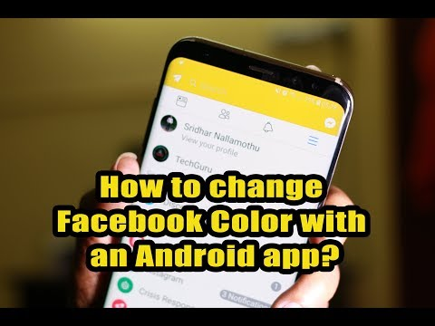How to change Facebook Color with an Android app?
