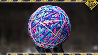 Download Snapping a GIANT Rubber Band Ball Video