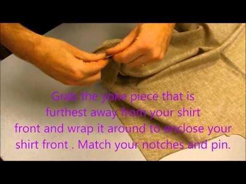 Elements of a Shirt Part 1:Sewing a Yoke