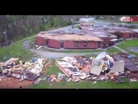 Red Bird 2: Drone Video At Hampton Elementary After Tornado