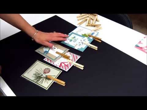 Learn How to Make a Clothespin Display Board for Greeting Cards