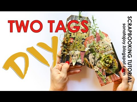 DIY. Scrapbook Tags. Scrapbooking Tutorial. Scraps Of Darkness Aug 'Safari' Kit