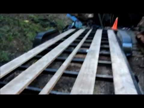 Preparing a trailer deck to build a tiny house