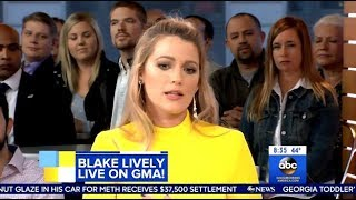 Blake Lively - Talks About Harvey Weinstein - GMA