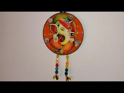 Diwali Decoration Ideas| Ganesha wall Hanging with waste CD
