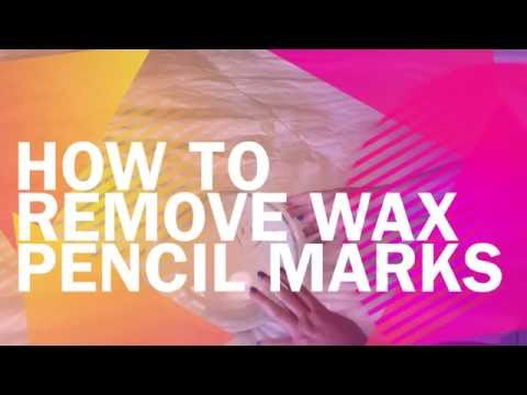 How to Remove Wax Pencil