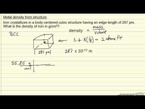 Density of Iron (Example)
