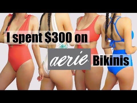 What was I thinking?! Aerie Swim 2018 Try on Bikini Haul | Toria Serviss