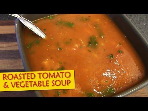 Roasted Tomato & Vegetable Soup | The Vegan Zombie